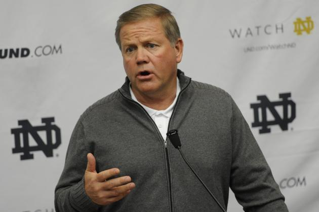 Brian Kelly Sees the Advantage of Spring Game for Irish