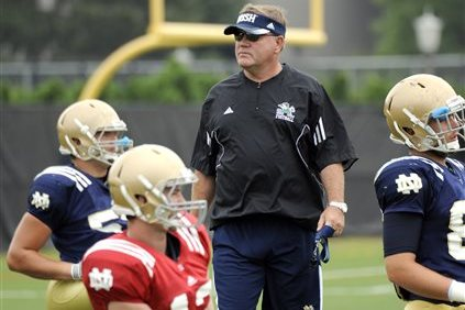 Kelly to Try 'Anyone with a Pulse' at Punt Returner for Notre Dame