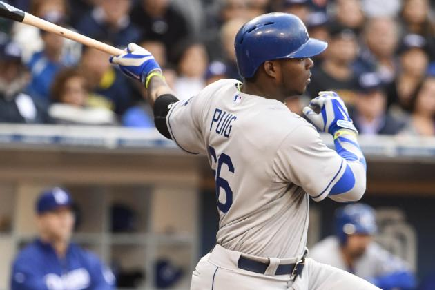 Yasiel Puig Returns Tonight vs. D-Backs; Matt Kemp Sitting