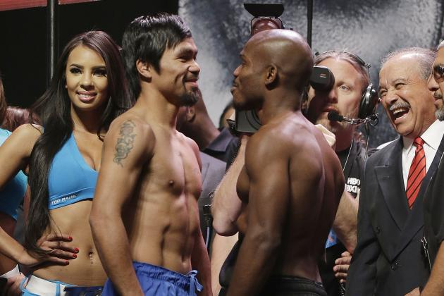 Pacquiao vs. Bradley 2 Weigh-In: Live Updates and Results from Pre-Fight Event