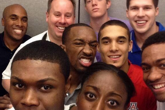 Nick Johnson in Wooden Award Selfie