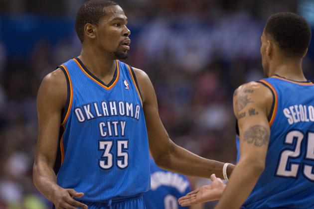 Kevin Durant Whistled for 15th Technical Foul of Season, 1 Shy of Suspension