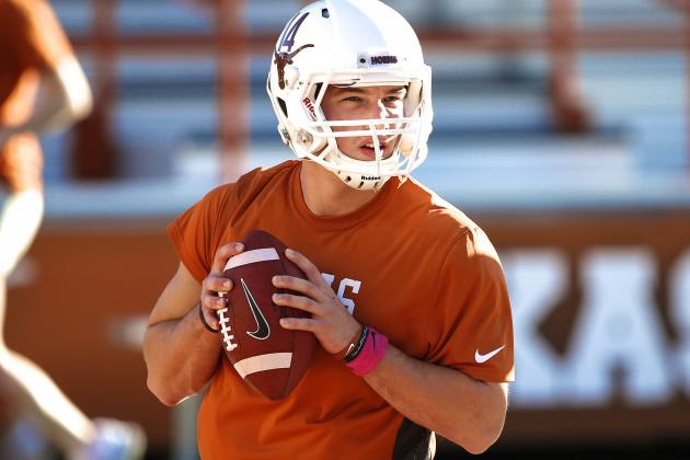 Texas Football: David Ash Fractures Foot, What Injury Means for QB Battle