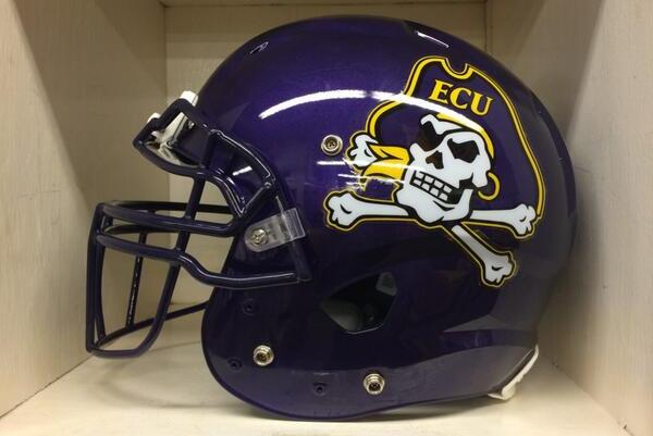 East Carolina Football Team Reveals New Logo on Helmets and Field