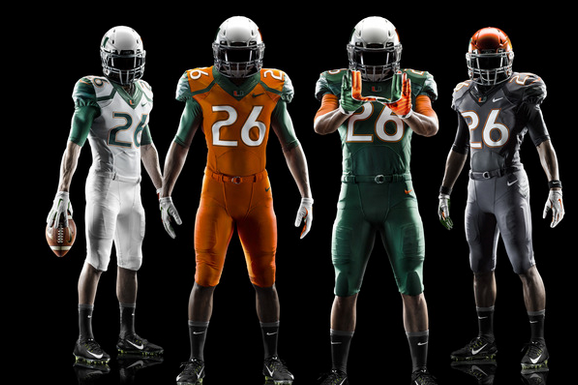 Miami Hurricanes Unveil New Nike Football Uniforms