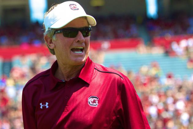 South Carolina Football: Steve Spurrier Not Giving Anything Away in Spring Game