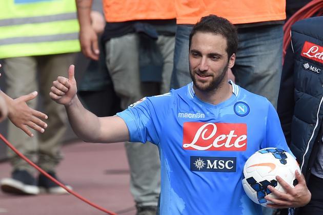 Higuain's Hat-Trick Leads Napoli Past Lazio