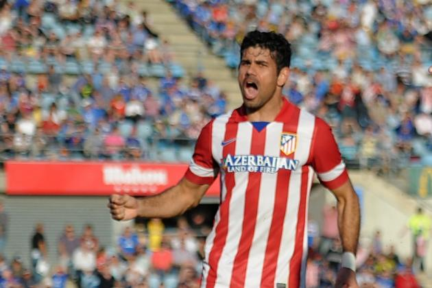 Costa Stretchered off in Atleti Win