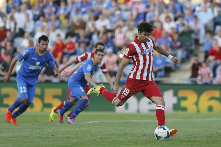 Diego Costa Misses Penalty After Getafe Fan Moons Atletico Madrid Striker
