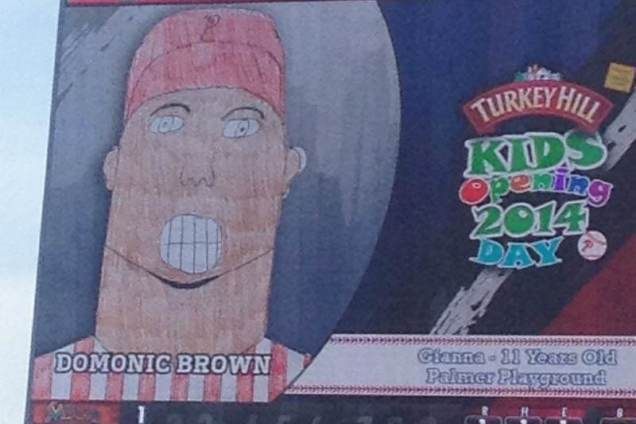 Phillies Use Kids' Wacky Drawings as Pictures for Players on Jumbotron