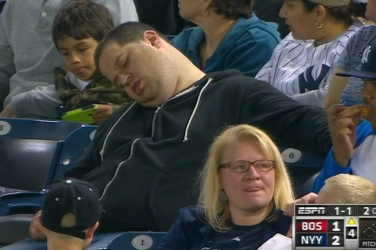 Fan Caught Sleeping at Yankees Game Suing ESPN for $10 Million in Damages