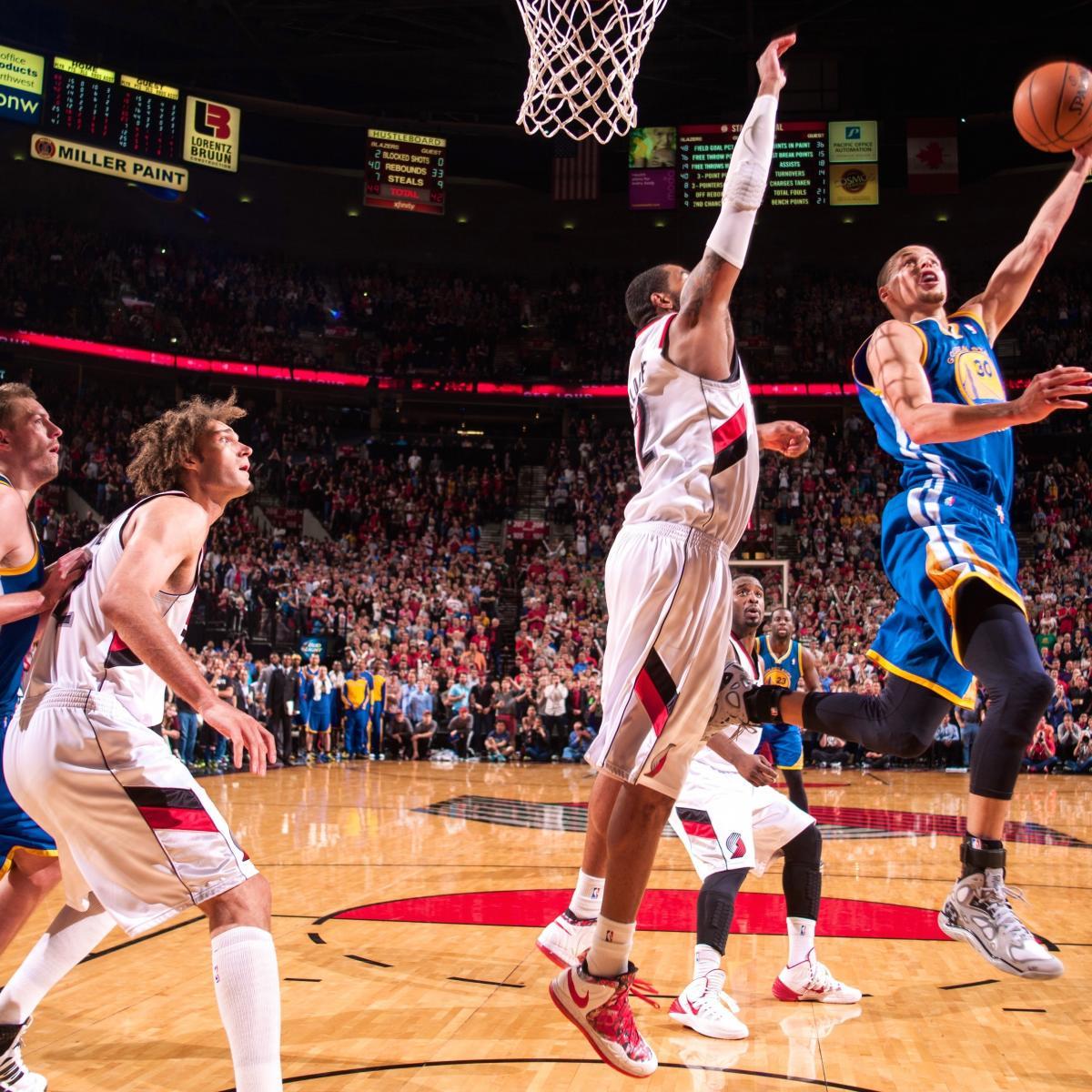 Portland Trail Blazers Golden State Warriors: Golden State Warriors Vs Portland Trail Blazers 4/13/14