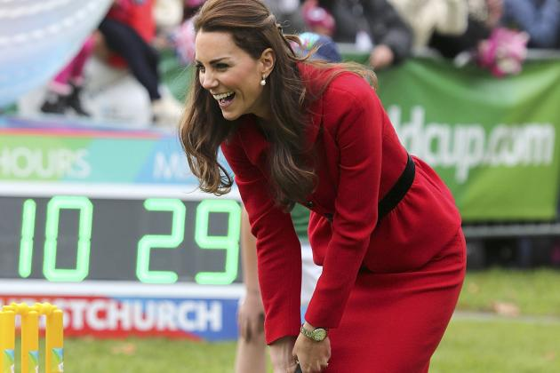 Kate Middleton Plays Cricket with Prince William on New Zealand Visit