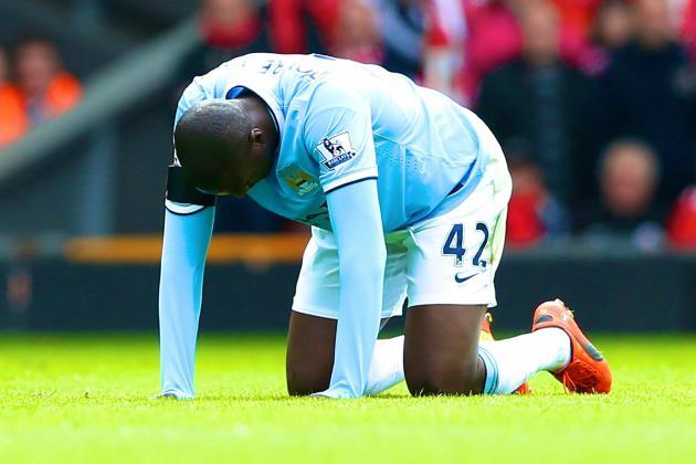 Yaya Toure Injury Rules Manchester City Out of the Title Race