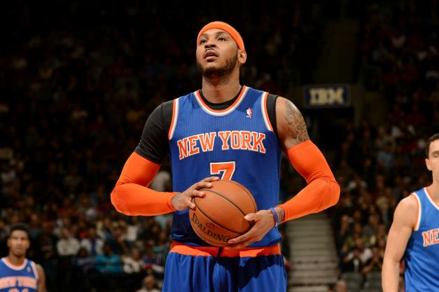 Knicks' Carmelo Anthony to Miss Playoffs for 1st Time in Career