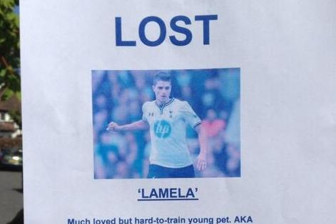 Erik Lamela Spotted on 'Lost' Poster, No Reward for Finding £30m Tottenham Man