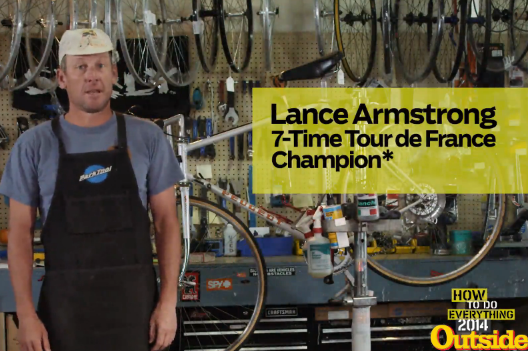 Lance Armstrong Teaches Fans How to Change a Tire in Depressing Video