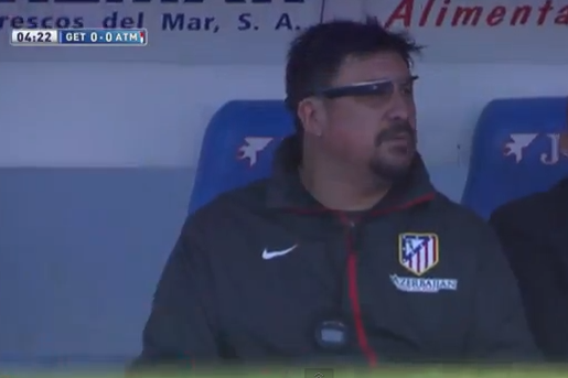 Atletico Madrid Assistant Coach German Burgos Uses Google Glass vs. Getafe