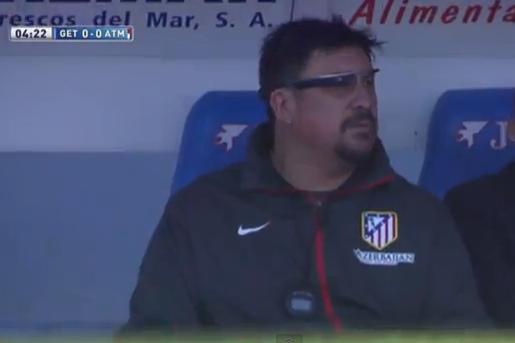 Atletico Madrid Assistant Coach German Burgos Uses Google Glass vs. Getafe