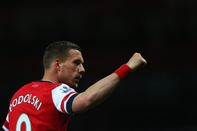 Why Lukas Podolski Will Be Key for Arsenal in Champions League Chase