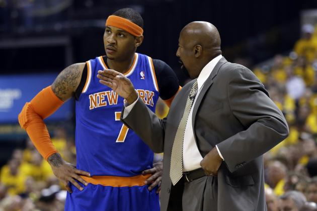 Mike Woodson Says Carmelo Anthony Played Well Enough to Be in NBA Playoffs