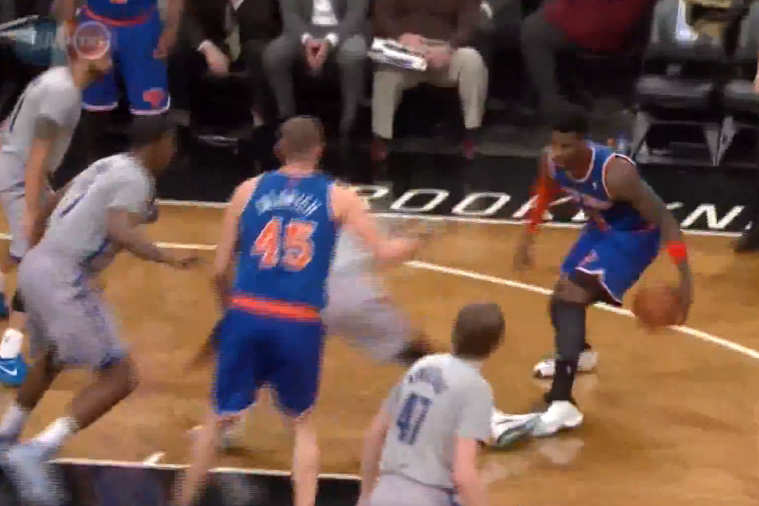 Iman Shumpert Drops Paul Pierce to the Floor with a Crossover, Hits Jumper