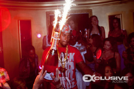 DeSean Jackson -- BOTTLES & MODELS ... During Crazy Miami Rager