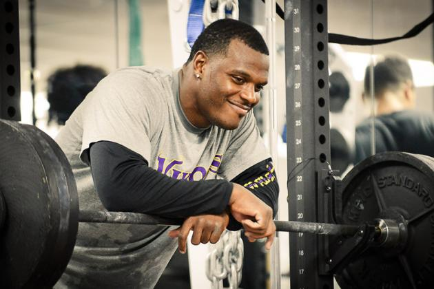 Vikings Strength Coach Evan Marcus First to Get Hands on Players