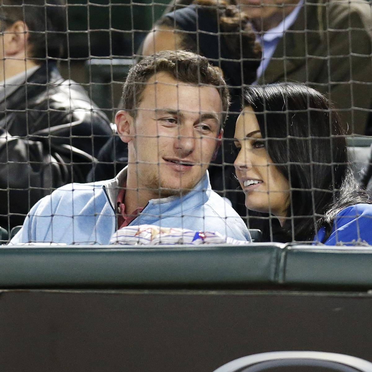 who was johnny manziel hanging out with at the texas