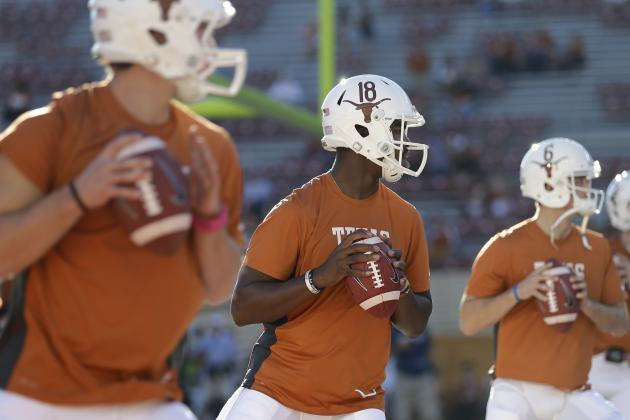 Texas Football: Charlie Strong Updates Horns' QB Competition