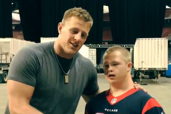 JJ Watt Continues Streak of Awesome, Catches Pass to Prove Fan Friendship
