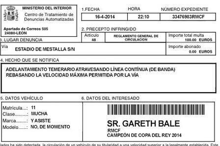 Gareth Bale Given Fine for Speeding by Fan After Copa Del Rey Winning Goal