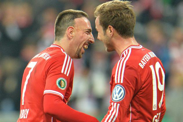 Bayern Munich Duo Franck Ribery and Mario Gotze Deceive Entire Defence with 1-2