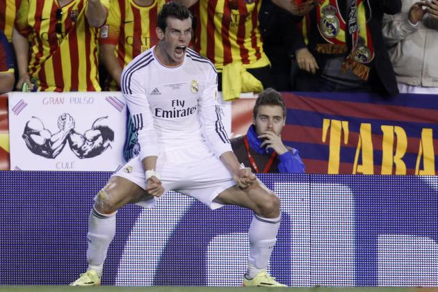 Gareth Bale Thanks the Brazuca Football After Real Madrid Win Copa Del Rey