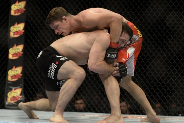 Michael Bisping Lets Tim Kennedy Wrestle Him into Decline at TUF: Nations Finale