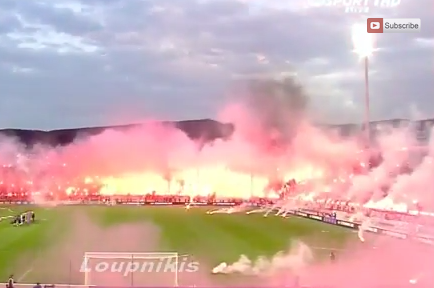 PAOK vs. Olympiacos Delayed After Incredible Ring of Fire