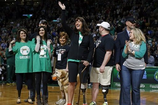 Celtics Honor Boston Marathon Bombing Survivors at Center Court