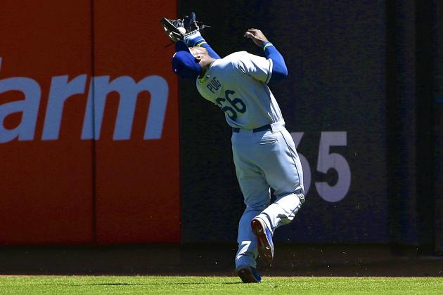 Yasiel Puig's Strong Arm Makes Up for Lackadaisical Effort on Fly Ball