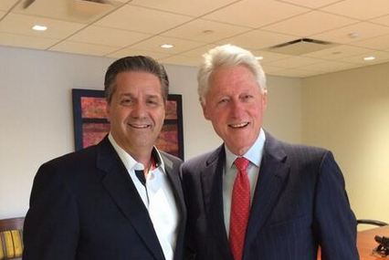 Photo: Calipari Hanging with Bill Clinton