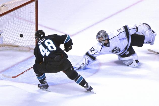 Los Angeles Kings vs. San Jose Sharks Game 1: Live Score and Highlights