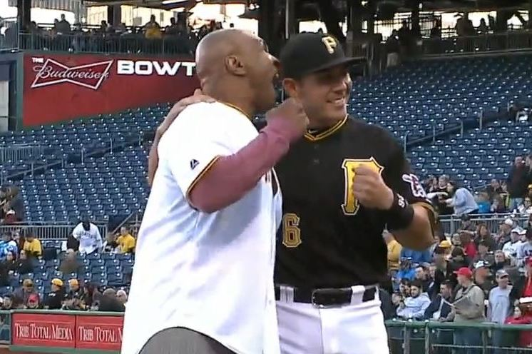Mike Tyson Throws Out First Pitch at Pirates Game, Pretends to Bite Player's Ear