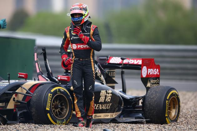 Pastor Maldonado Confirms Status as F1's Laughing Stock in Chinese GP Practice