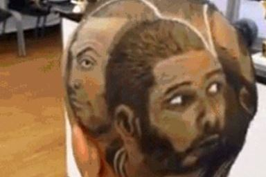 San Antonio Fan Gets Wild 'Mount Spursmore' Haircut