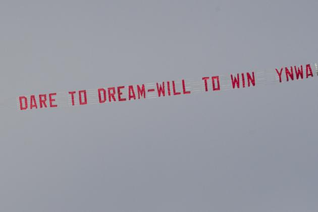 Liverpool Fans Hang Up Motivational Banners at Melwood Training Ground