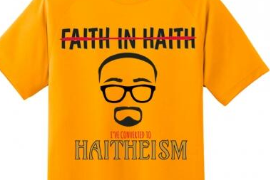 Image: 'I Converted to Haitheism' Shirt