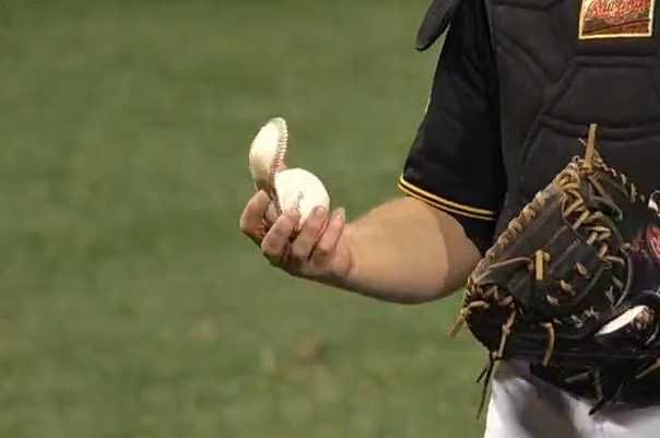 Martin Maldonado Hits Cover off Ball and Baffles Pirates' 3B Pedro Alvarez