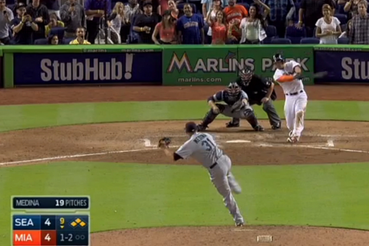 Marlins' Giancarlo Stanton Hits Walk-off Grand Slam vs. Mariners