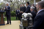 Obama Gives Navy Football Trophy, Again