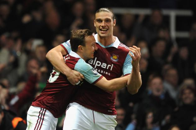 West Ham Striker Andy Carroll Trolls Mark Noble and Kevin Nolan