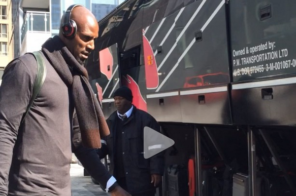 Watch: Nets Head to Arena for Game 1